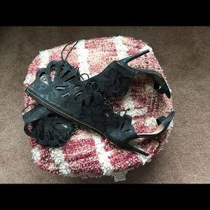 Bebe lace up knee high heels